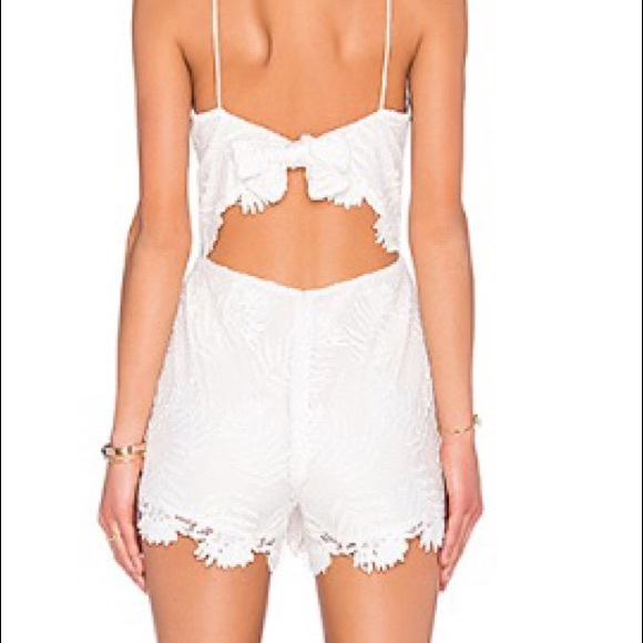 Lovers + Friends Dresses & Skirts - Lovers and Friends White Lace Romper